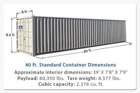 104 40 Foot Shipping Container Edi Diwan About Dimensions And Capacity Dimensions Design