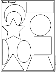 Shapes Coloring Pages Kids