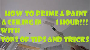 Zinsser Popcorn Ceiling Patch Video by How To Prime And Paint A Ceiling Fast In 1 Hour Tons Of Diy