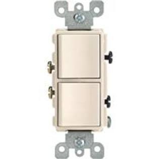 Leviton Decora Dual Switch - Light Almond, 15A