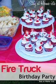 100 Fire Truck Birthday Party Stay At Homeista A Man At A Station