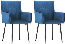 vidaxl 2x esszimmerstuhl mit armlehnen küchenstuhl essstuhl