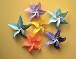 Folded Paper Flower Tutorial