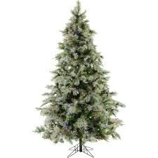 Fraser Christmas Tree Care by Fraser Hill Farm 7 5 Ft Pre Lit Led Glistening Pine Artificial