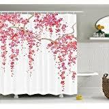 Cherry Blossom Bathroom Decor by Amazon Com Home Classics Cherry Blossom Fabric Shower Curtain