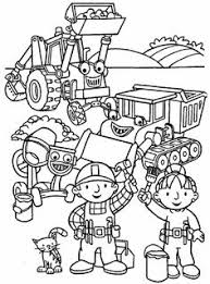 Bob The Builder Preparing To Start Work Coloring Pages For Kids Printable
