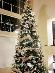 12 Ft Rustic Glam Christmas Tree 1 Spool Burlap Ribbon Rose Gold And Silver