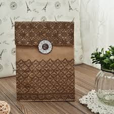 Vintage Lace Wedding Favors Paper Bags With Seals EWFB085