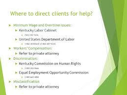 Ky Labor Cabinet Division Of Employment Standards by Working And Surviving What Your Clients Need To Know About