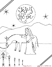 Advent Mary Coloring Page