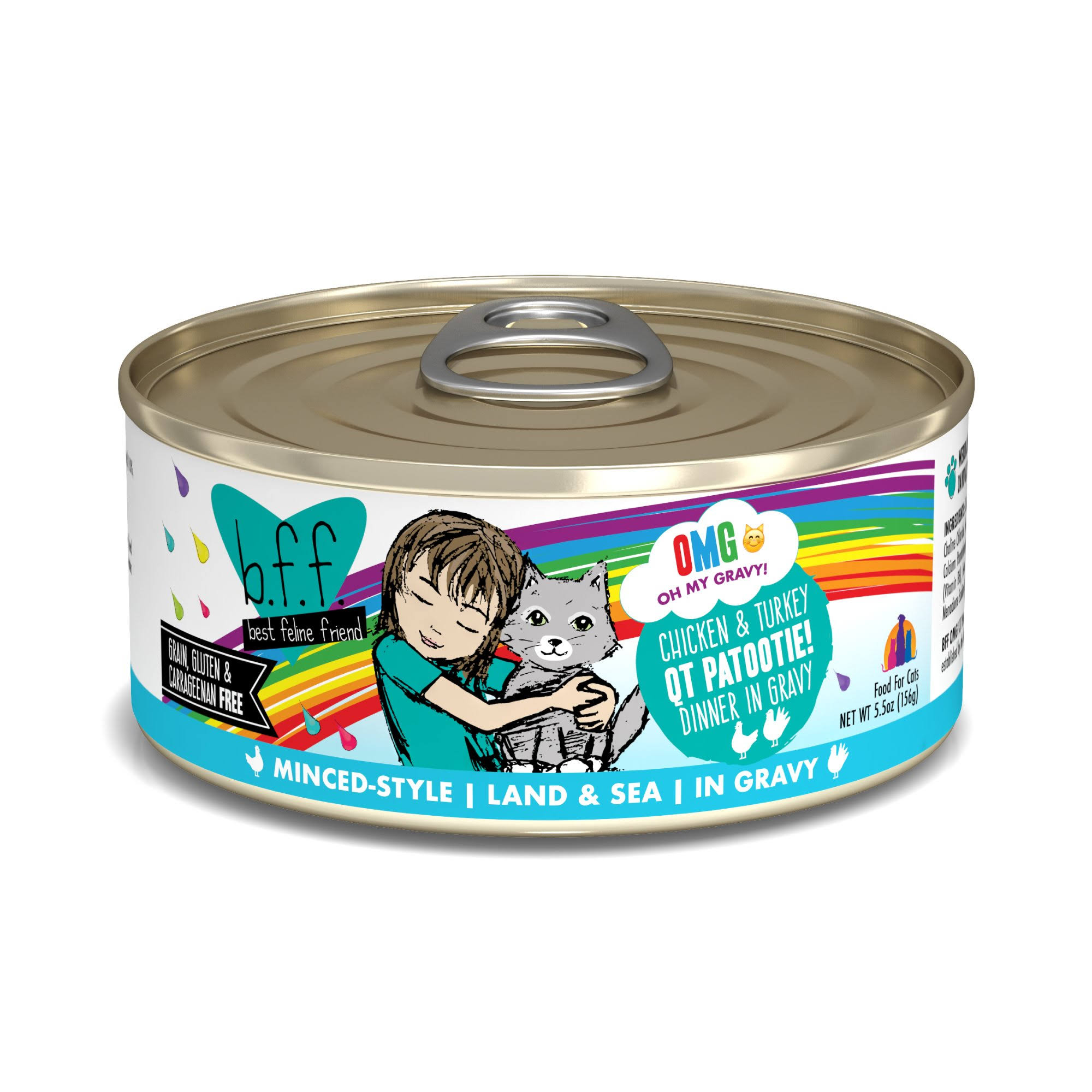 Best Feline Friend OMG! qt Patootie! Cat 5.5 oz Can