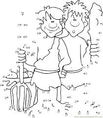 Download Or Print Cain And Abel Dot To Printable Worksheet From CartoonsCain