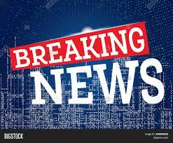 Breaking News On Neon City Skyline Background TV Design