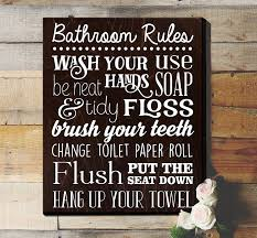Kids Bathroom Signs Rustic Best Of Rules Sign Inside 800 X