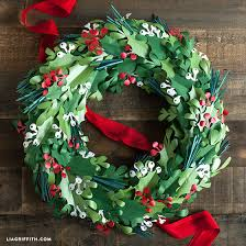 DIY Paper Christmas Wreath Holiday
