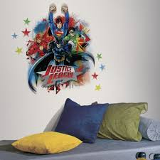 Superhero Wall Decor Stickers by Lovable Kids Bedroom With Superhero Wall Decals Combined Justice