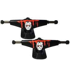 Pro Skateboard Trucks Hand Painted 7.6 Mid Profile Blood Mask ... Thunder Trucks Hi Hollow Light Pro Skateboard Truck 147151 Pair Venture Polished Polished 50 Hi Free Shipping 160mm Caliber 2 Raw 9 Axle Longboard Ipdent 144 Silver Randal Rii 180mm Degree Set Of Standard Street Buy Luxe At The Longboard Shop In The Hague Netherlands Krux Diamond Tall Forged 825 Accsories Cheap Japanese Brands Find Orion Ultimate Grateful Dead Top 10 Best Skateboard Bushings