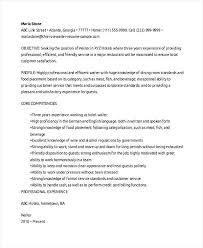 Restaurant Server Resume Sample From Restaurant Waiter Resume Food
