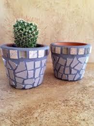 Small Planter Tiny Succulent Pot Rustic Mosaic Flower Handmade Window Air Plants Terracotta Herb Kitchen Plant