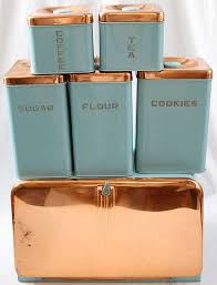 Lincoln Beautyware Kitchen Canister Set 6 I Have Some All Copper Ones Round Rectangular