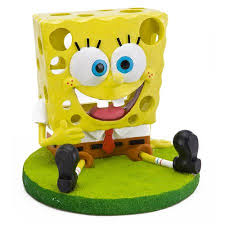 penn plax sbr39 resin nickelodeon spongebob squarepants sitting