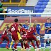 Soccer Football - Premier League - Everton v Liverpool - Goodison Park, Liverpool, Britain - June 21, 2020 Liverpool's Fabinho takes a freekick, as play resumes...LiverpoolnewsCNA