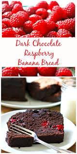 Dark Chocolate Raspberry Banana Bread pin