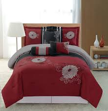 J Queen New York Marquis Curtains by Red Comforter Sets King Source 7pc Embroidery Bedding Red Black