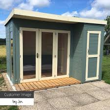 100 Contemporary Summer House 10 X 8 Waltons House With Side Shed Clifford James