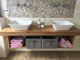 waschtisch platte konsole holz eiche massiv für unterschrank bad