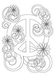 Complicolor Flower Peace Symbol Printable Pages And Coloring Books For Grown Ups At