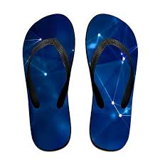 Constellations Wallpaper Beach Slippers Platforms Sandal Summer Strap Flip Flops For Men Women