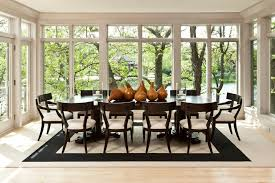 Ethan Allen Dining Room Contemporary With Window Wall Traditional Flameless Candles