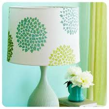 Tutorial Diy Lampshade Makeover With Silhouette Stencils O The