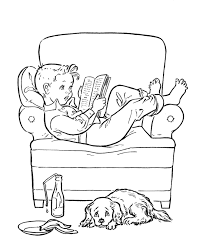 Winter Is A Good Time To Read Book Coloring Page