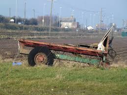 Old Farm Trailer Near Fosdyke Bridge Lincolnshire