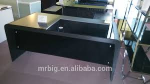 Tempered Glass Computer Desk by Black Tempered Glass Computer Desk Glass Office Desk Stainless