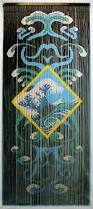Bamboo Bead Curtains For Doorways by Bamboo Doorway Beads Curtain With Ocean Motif