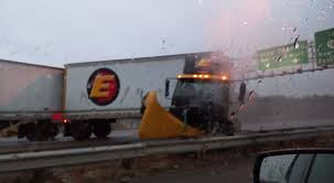 Yesterday A Man Filmed A Semi On Black Ice Sliding Sideways Towards ...