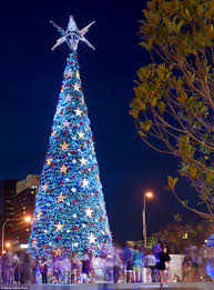 The Worlds Largest Solar Powered Christmas Tree Stands Proudly Inside Of King George Square In