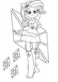 Coloring Pics Detail Name Equestria Girls Sunset Shimmer Pages My Little Pony