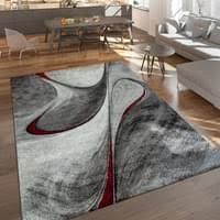 moderner kurzflor teppich wohnzimmer meliert real de