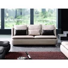 la maison du canapé canapé 3 places en tissu doomys beige la maison du canapé pas cher