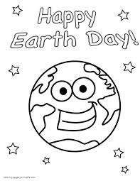 Easy Coloring Pages For Toddlers Earth Day