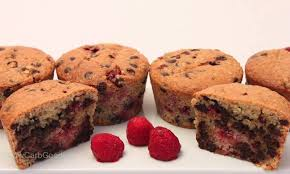rezept schoko himbeer muffins lowcarb keto daniela pfeifer