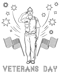 Printable Veterans Day Coloring Sheet