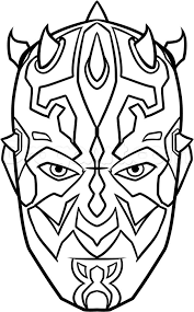 Star Wars Coloring Pages See More How To Draw Darth Maul Easy Step 8
