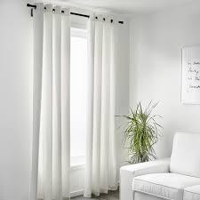 merete 2 gardinenschals abdunk weiß 145x300 cm ikea