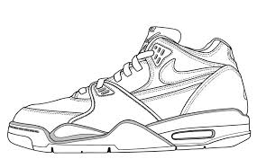Printable Coloring Pages Nike Shoes