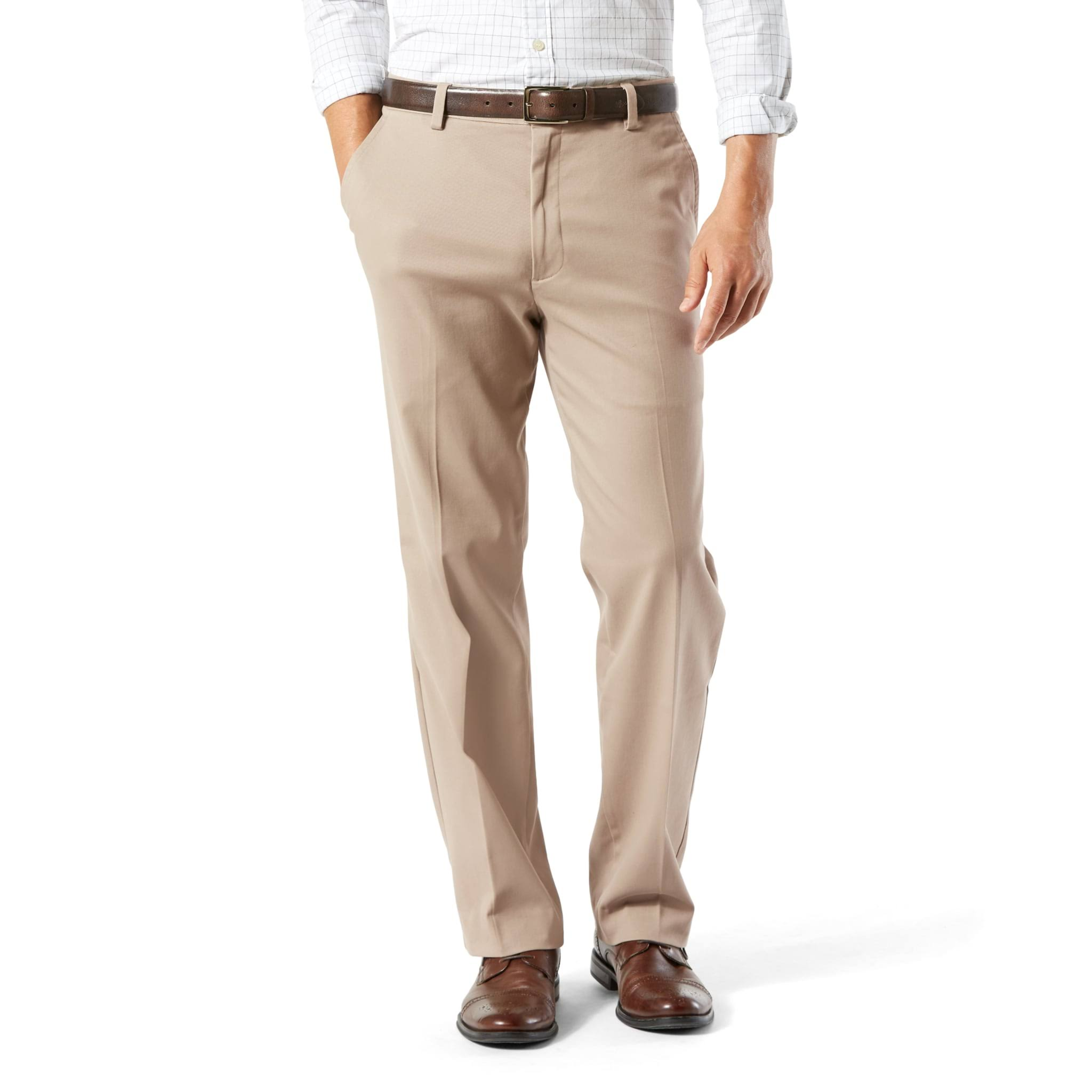 Men's Dockers Stretch Easy Khaki D3 Classic-Fit Flat-Front Pants, Dark Beige
